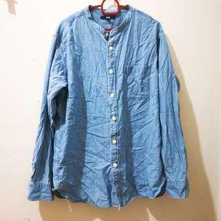 Authentic Uniqlo Men Denim jacket top shirt #DEC50