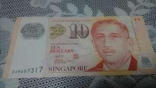 Singapore Ten dollars note
