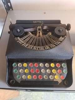 rare batam colour glass key typewriter