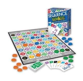 Sequence board game number