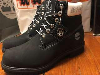 """Timberland x mastermind 5"""" Inch Prem with Zip Boots Black"""