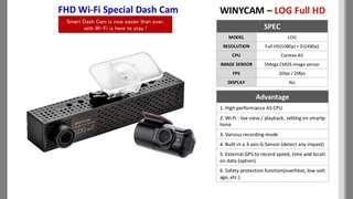 WinyCam EX-5 WIFI, Car Cam, Dash Cam, Recorder, DVR, Camera