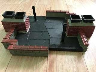 Marvel Legends Select Shf rooftop diorama base display stand