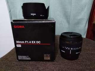 New Sigma 30mm f1.4 Sony A mount
