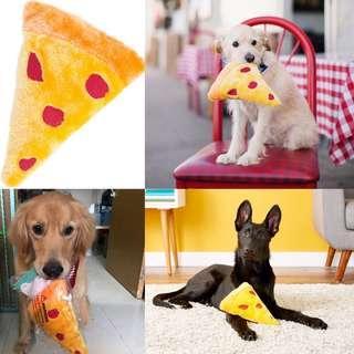 BN ZippyPaws Emojiz Squeaky Plush Dog Toy, Pizza
