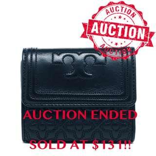 """⏰ENDING SOON!! Auction """"Like"""" & """"Bid"""" Authentic Brand New Tory Burch Bryant Foldable Mini Wallet Hudson Bay From USA Suggested Retail: $318"""