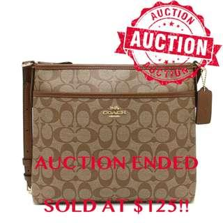 """⏰ENDING SOON!! Auction """"Like"""" & """"Bid"""" Authentic Brand New Coach Small File Crossbody Bag In Siganture Coated Canvas From USA Suggested Retail: $478"""