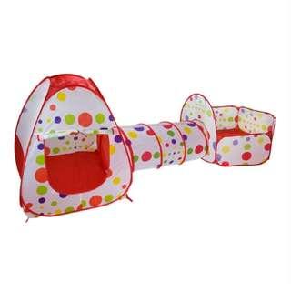 Children 3 in 1 Play Tent With 100++ Balls