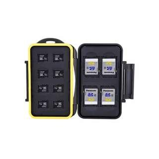 🚚 JJC MC-SDMSD12 Compact and Water-resistant Memory Card Holder for 4 SD/SDHC Cards and 8 MSD/TF cards (NOT include SD card )