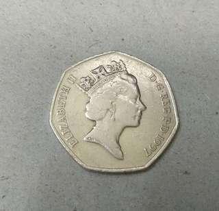 英国硬币50便士