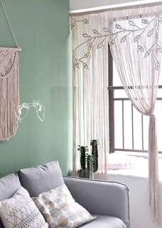🚚 Macrame Rope Art Window Door Curtain Wedding Backdrop