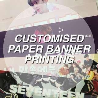 customised paper banner