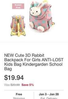 Winghouse Cute Bunny Back Pack