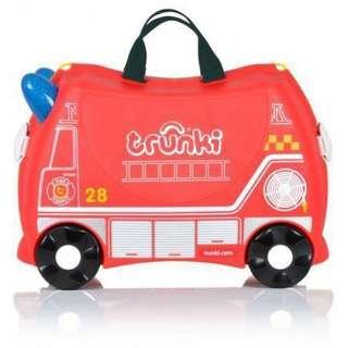 BN Brand New Auth Trunki Kids Luggage Red Fire Engine Frank Girl Boy Kid Travel Bag Suit Case Kids Suitcase