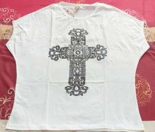 New kaos putih dewasa salib