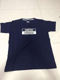Blue Surfers Paradise graphic t shirt