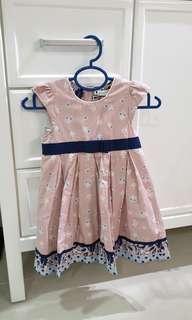 Pumpkin Patch Gird Dress - Pink skirt with mini flowers
