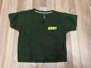 Army crop top