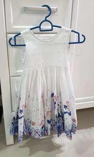 Pumpkin Patch Gird Dress - White skirt with Mermaid