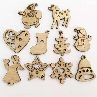 Christmas tree decorations - Wooden Ornaments