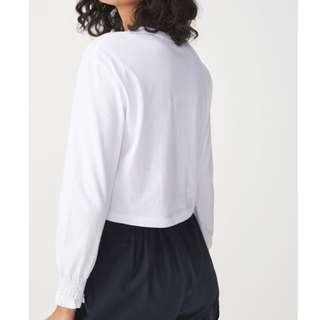 🚚 Cotton On Brynne Chop Shirred Long Sleeve Top in White