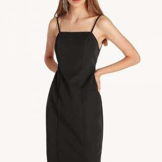 🚚 TEMT Black Square Neck Dress