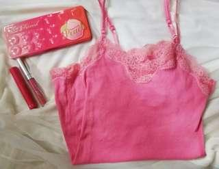 A&F Pink Lace Cami