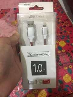 Miniso kabel data iphone