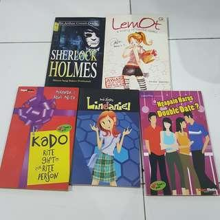 5 buku teenlit etc