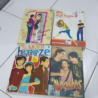 4 novel + ongkir