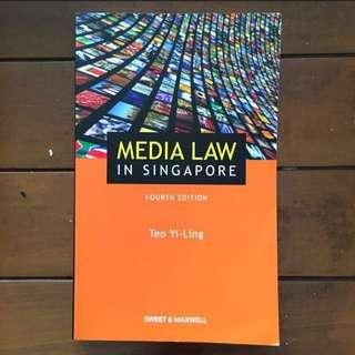 Media Law in Singapore 4th edition Teo Yi-Ling