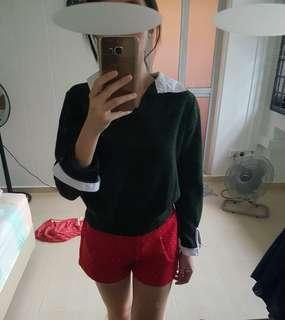 Peterpan green knitted long sleeve top