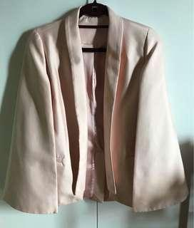 Pink Silk Cape Jacket