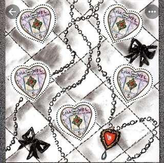 Chanel Valentine's Stamp Sheet