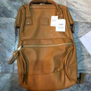 Anello leather backpack (Camel Beige)