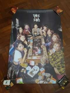 TWICE YES OR YES POSTERS/PO BENEFITS/UNSEALED ALBUMS/PCS/PHOTOSTRIPS