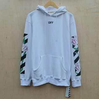 OFF WHITE Flower Hoodie Not Pull and Bear