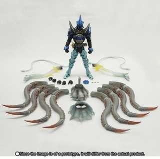 全新啡盒未開 行版 魂shop 限定 S.I.C. Kamen Rider 幪面超人000 SHAUTA COMBO 鯊鰻章 水系