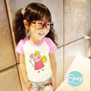 Kids Girls Peppa Pig Cartoon T Shirt