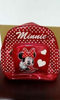Disney Minnie 紅色防水小童背囊