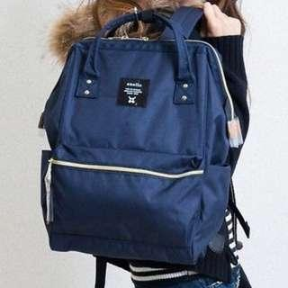 INSTOCKS Anello Hinge Clasp Backpack In Navy Blue