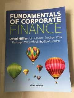 Textbook / Fundamentals of Corporate Finance / Kaplan / UCD text book / David Hillier / McGraw Hills / Third Edition Kaplan