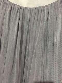 Gray Tulle Maxi Skirt