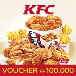 Voucher KFC 100rb