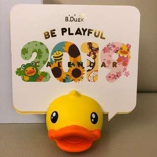 全新b.duck 2019年座枱月曆