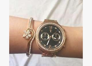 Tomato Rosegold Watch Selling Very Low Good as New