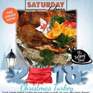 Christmas Freshly Baked Turkey / Ribeye / Honey Baked Ham / Baked Penne / Potato Au Gratin (PRE-ORDER NOW!!!)