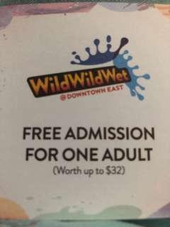 Wild wild wet adult & child tickets