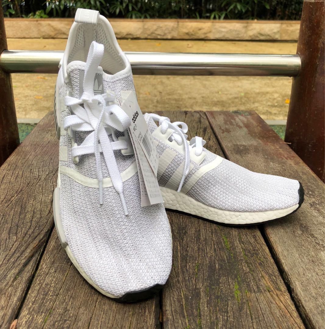 """Adidas NMD R1 """"Blizzard"""" White  Grey bd4b2f318"""