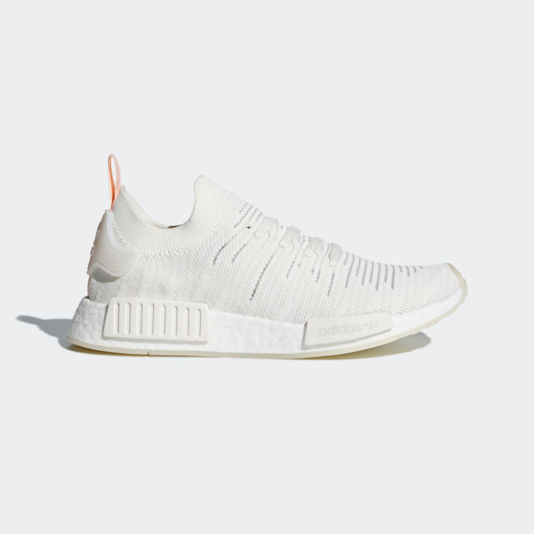 10bf1d1f9c5ef  LIMITED TIME OFFER  ADIDAS NMD R1 STLT PRIMEKNIT WOMEN S - CLOUD WHITE CLOUD  WHITE CLEAR ORANGE